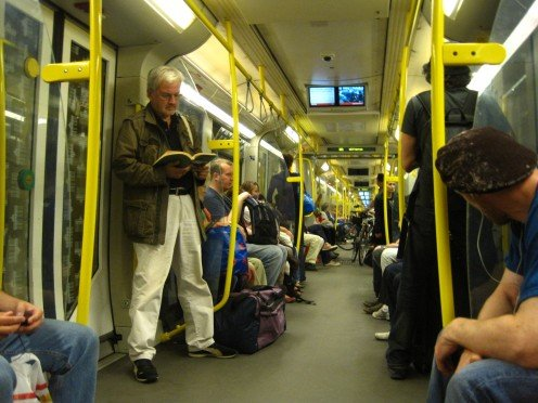 From inside a Berlin U-bahn