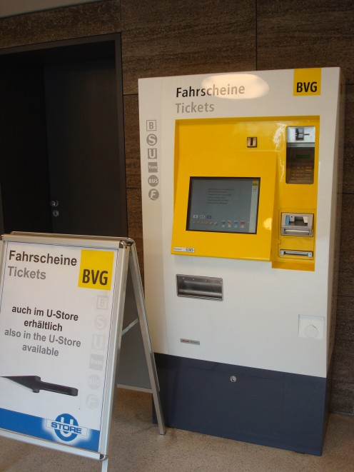 A ticket machine for trains in Berlin