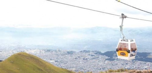 The cable car to Volcano Pichincha