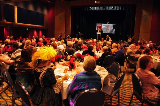 A big room for a big night.  Over 150 people, many wearing 1912 period costume, all this added to the atmosphere.