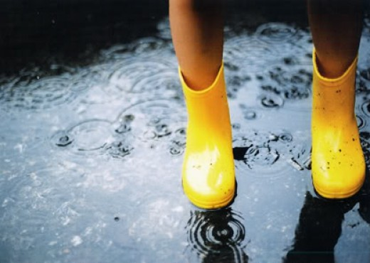 Rainboots can symbolize protection.