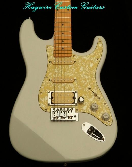 Haywire Custom Guitars White Fat Strat