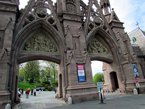 The Ornate Victorian Entrance Gate of Green-Wood Cemetery