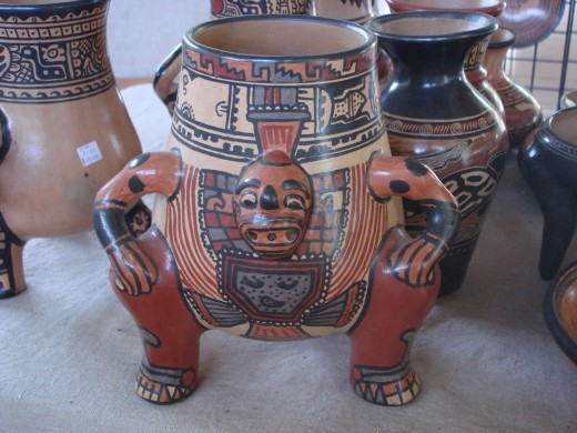 A Chorotega piece in a style seen in pieces recovered from ancient graves.