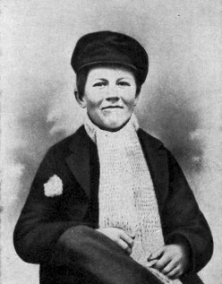 Thomas Edison when he was a boy