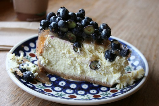 Have a wonderful slice of blueberry cheesecake today!