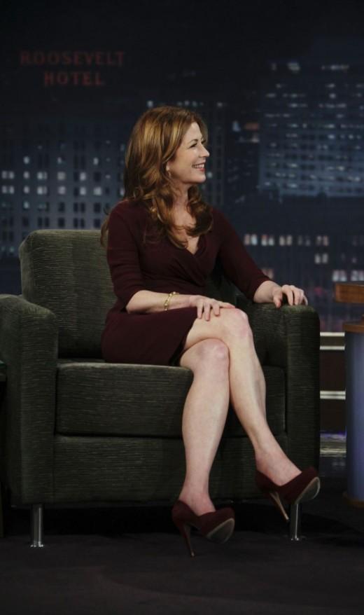 Dana Delany sexy crossed legs