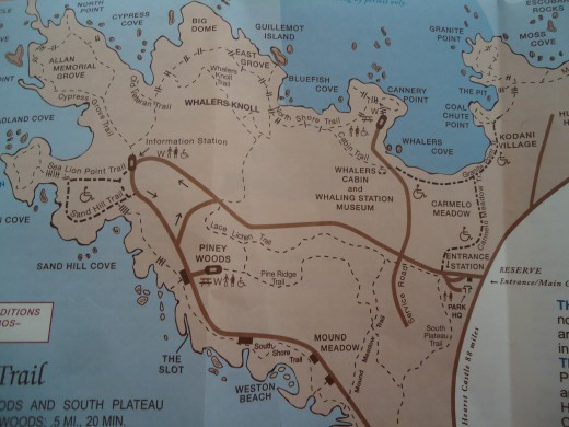 Map of Point Lobos State Reserve