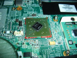 Video chip was surrounded by epoxy