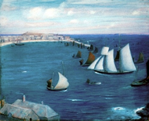 St Ives Harbour By Thomas Millie Dow