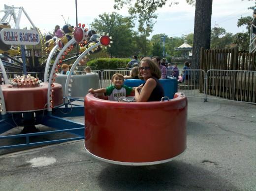 Getting dizzy on the Scrambler!
