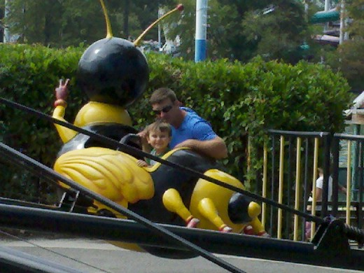 Such a good Daddy to ride the Bumble Bees!