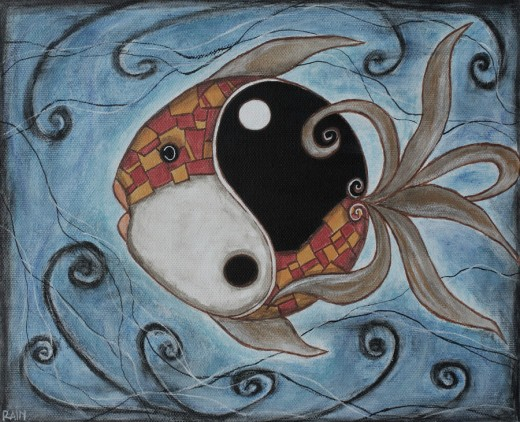 Whimsy Fish - Yin and Yang Rain