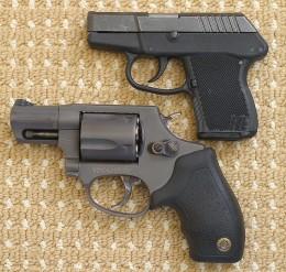 Taurus 85T Revolver and Kel-Tec P3AT Semi-Automatic