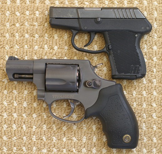 Taurus 85T Revolver and Kel-Tec P3AT Semi-Automatic