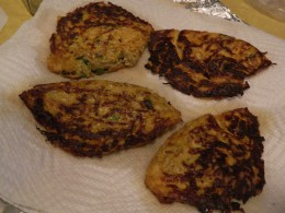 Set omelets on paper towels and keep warm in oven while awaiting their completion in cooking