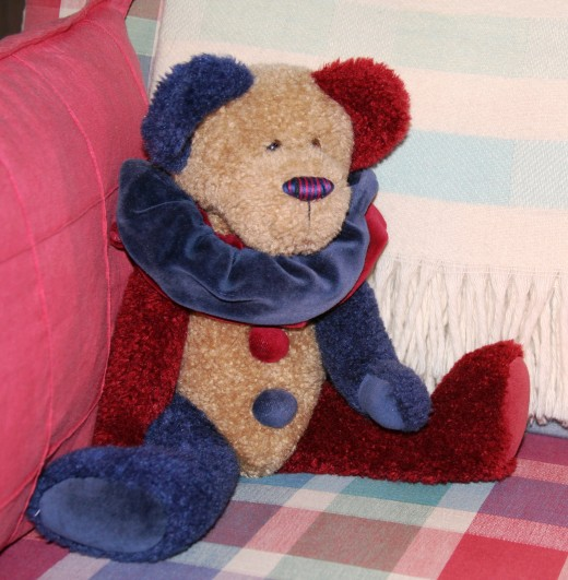 Terry's beloved bear wore a  clown costume similar to this one.
