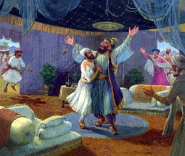 Sayyed Banda and Krishnaji Bhaskar Kulkarni were taken by surprise by the sight of wounded Afzal Khan. They had expected Shivaji to be wounded or killed. Sayyed Banda attacked Shivaji with his sword. Jiva Mahal took the blow on himself and cut off S