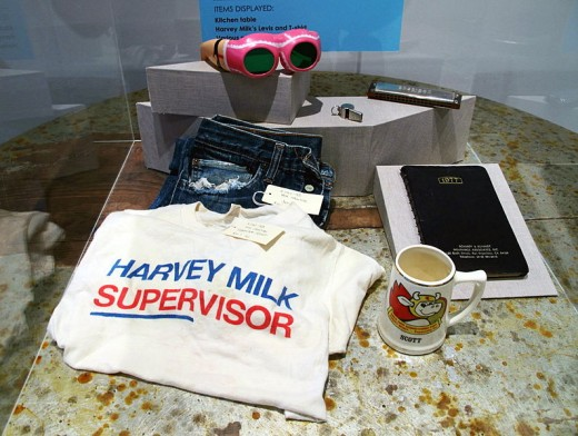 Some of Harvey's belongings in the GLBT Museum
