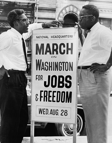 Bayard (left) on 'March on Washington for Jobs and Freedom'