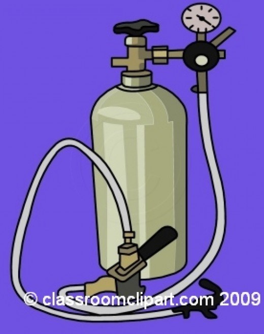 Oxygen tanks deliver oxygen therapy to patients in a home setting.