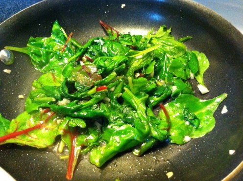 Sauteed Power Greens with Minced Garlic & Olive Oil