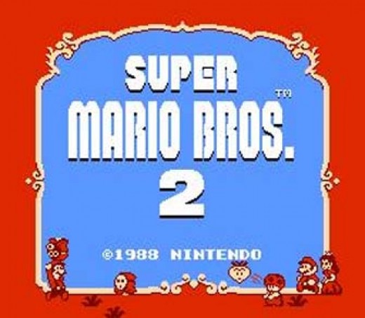 SMB2 Title Screen