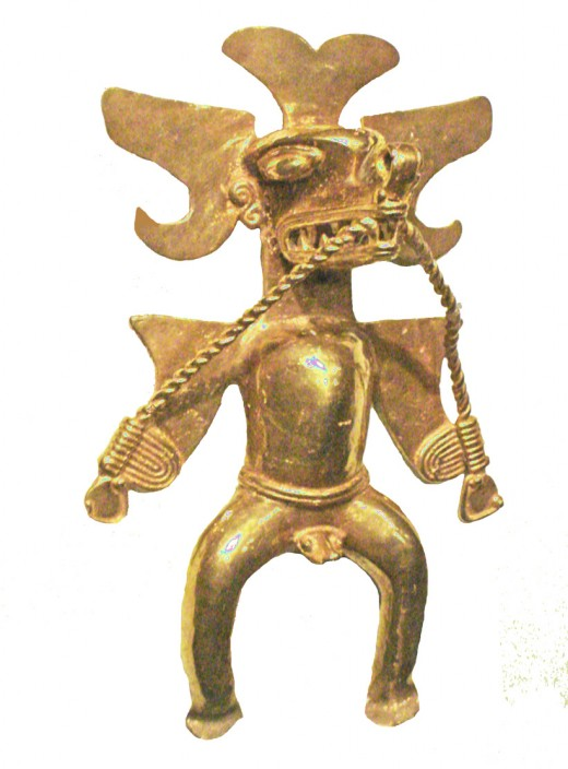 Shamanic gold figurine.
