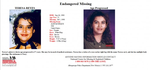 "Terry was reclassified from a ""runaway"" to ""endangered missing."""