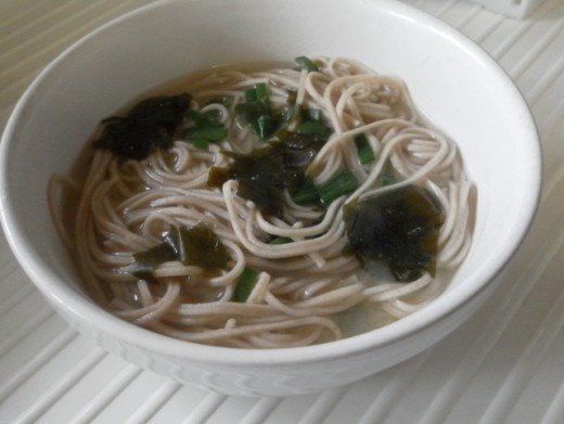 quick and easy soba noodle soup