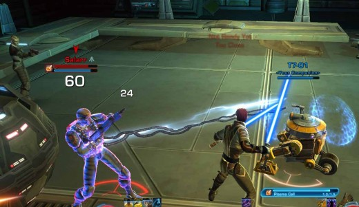 SWTOR Defeating Salarr in the Rescue Quest with T7-01