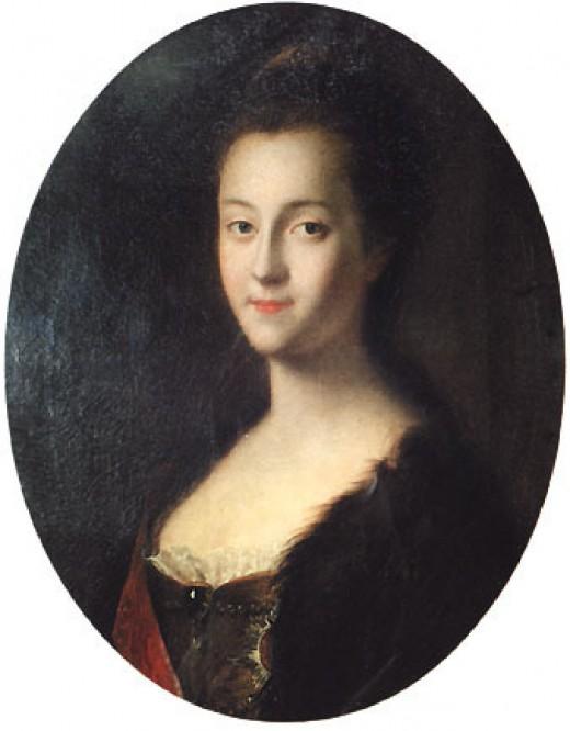Young Catherine II of Russia