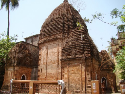The NABARATNA temple of Panchthupi;in fact  it is a Panchayatana temple