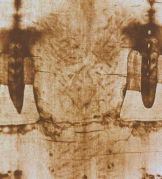 I gave My back to those who struck Me, Isaiah 50:6 (Back Image from Shroud of Turin)