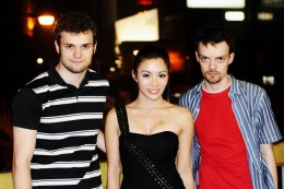 From left to right: John-William Noble (Director/writer) Juju Chan (The Shadow of Death actress) Graeme Noble (Director/editor)
