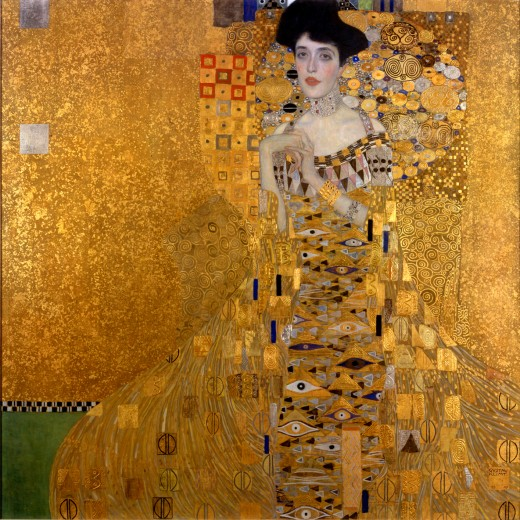 Adele Bloch-Bauer I.  1907.  This painting sold for a record 135 million United States dollars, the highest price ever paid for a painting, in 2006.