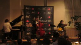 Other members of the trio were Matthew Parrish on bass and Marcello Pelliteri on drums