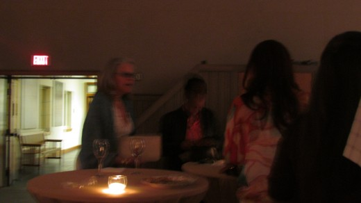 Some of the guest enjoyed a subdued source of lighting after dinner during the show.