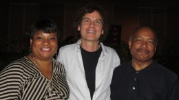 Vana Gierig with the producers Anita and Selwyn Broady.