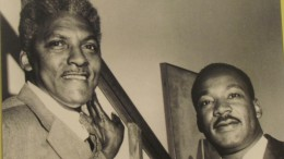 A photo of Dr. Martin Luther King and Bayard Rustin,  that is exhibited in the Chester County Historical Society's Museum