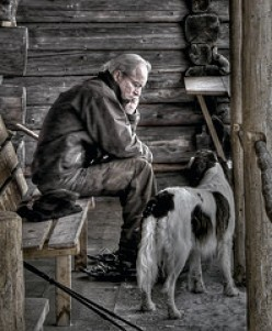 OLD MAN. I KNOW HOW YOU AND YOUR DOG FEEL. LOST. DEPRESSED. NO POWER.