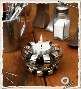 Tea Light Candle Holder from Tin Can