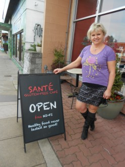 Sante Cafe -  wheat and gluten free dining in Victoria BC
