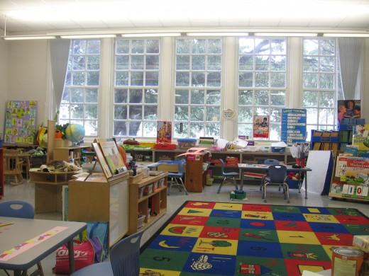 Look carefully at your child's classroom to find out what type of learning is occuring. Does the art work change?Can you see your child's work posted anywhere?
