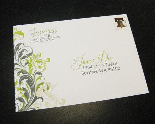 Examples of Printed Envelopes