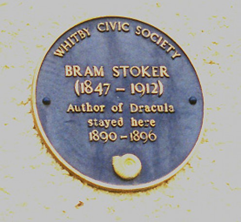 The book Dracula was so popular, that there are even plaques to commemorate the author.