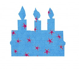 A 4th of July birthday cake embellishment.