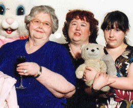 Our last picture together, My mum, my daughter and me, on a trip to visit the Easter Bunny.