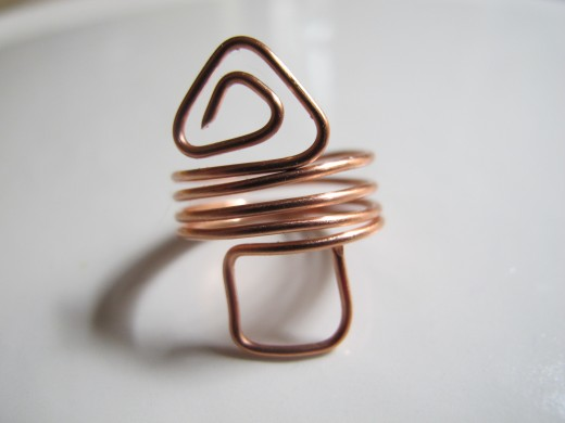 Copper triangle and square ring