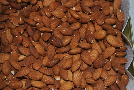Almonds are loaded with vitamin E and are a rich source of protein.